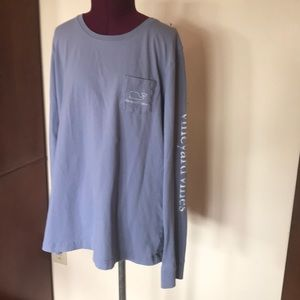 Vineyard Vines Whale Long Sleeve Blue Pocket T M